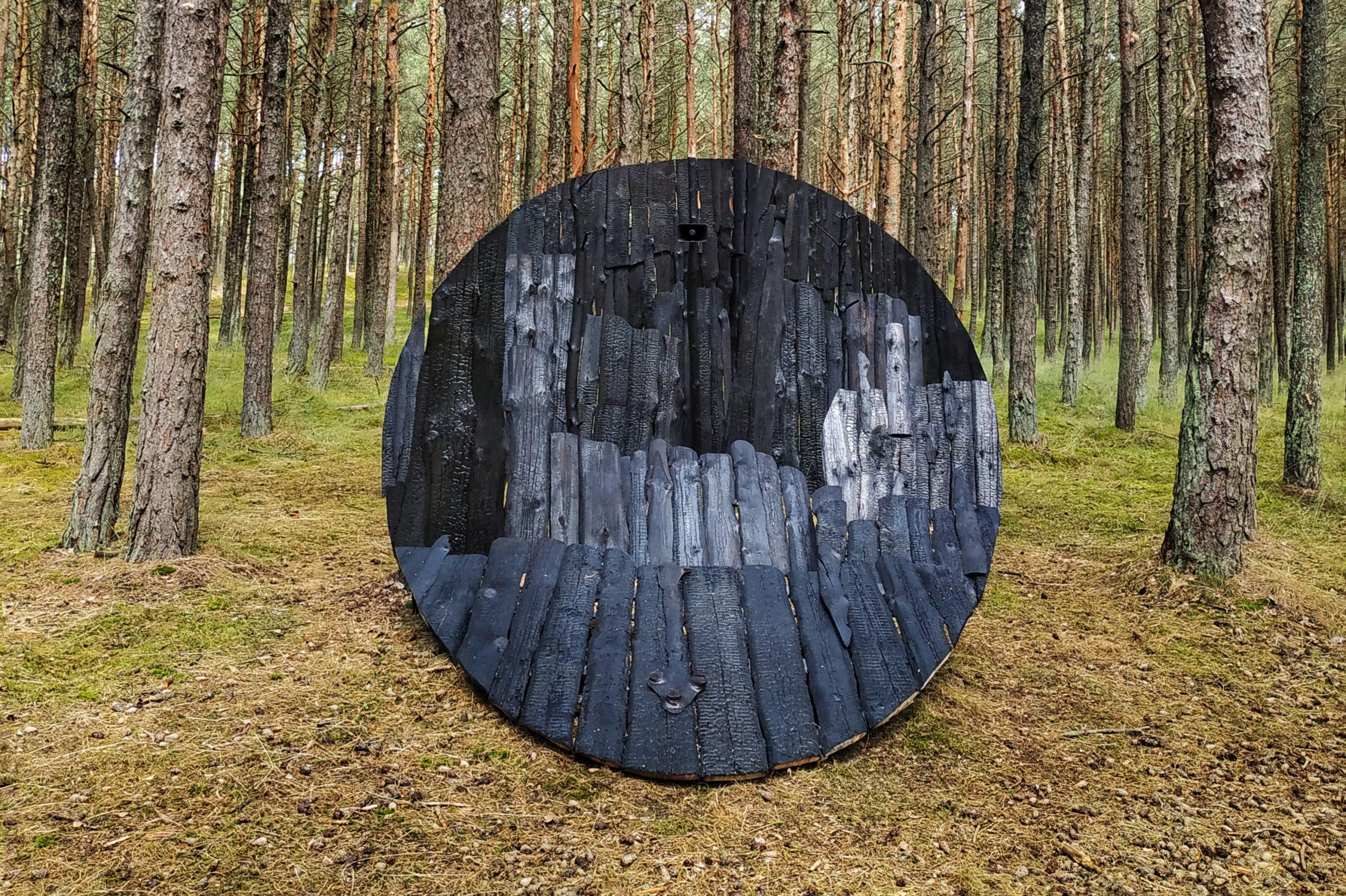 Meninė instaliacija Anglies miškas Nidoje